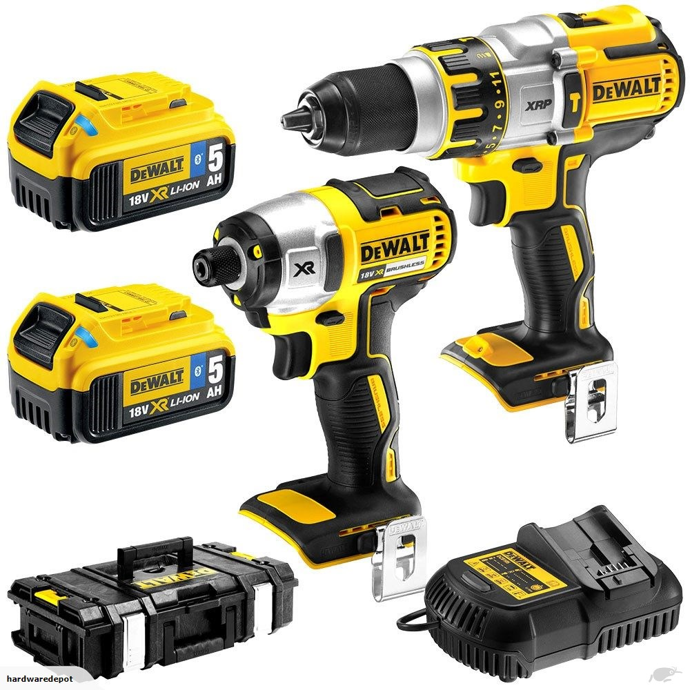 dewalt 18v tools. dewalt dck255p2b 18v xr li-ion 2pc combination kit \u2013 5.0ah tool connect™ bluetooth® dewalt 18v tools a